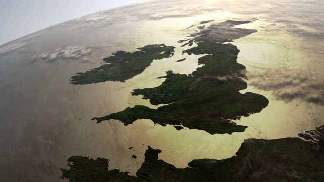Britain and Ireland from space