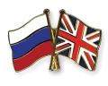 Russia and Britain flags