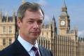 Britain - Nigel Farage at the UK's Parliament Buildings