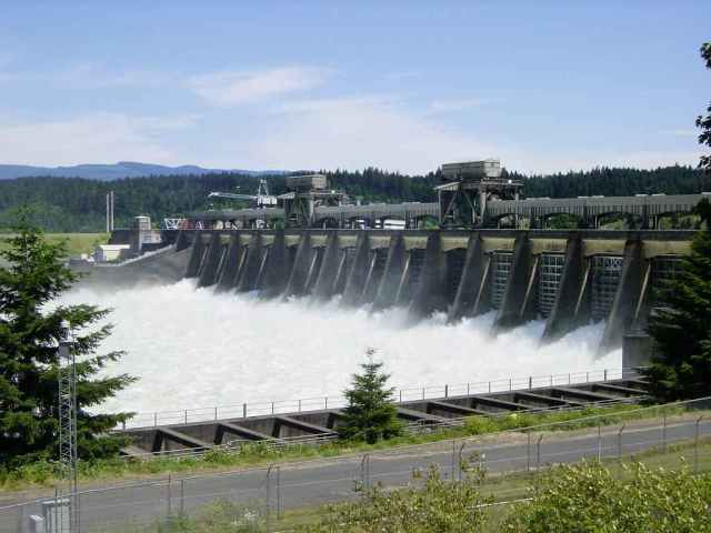 Development bank hydro-electric dam