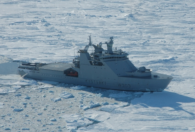 Brexit - If Scotland were to separate from the UK, the first purchase would need to be (approx.) 20 of these Svalbard-class (or equivalent) icebreaker and offshore patrol vessels. KV Svalbard (W303) pictured. Norwegian Coast Guard photo.
