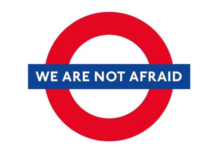 Britain - March 22 terror attack in London - We Are Not Afraid