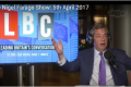 Britain - Nigel Farage on Brexit costs and calling the EU Parliament gangsters