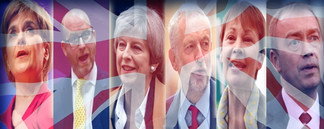 UK election 2017 - The six party leaders