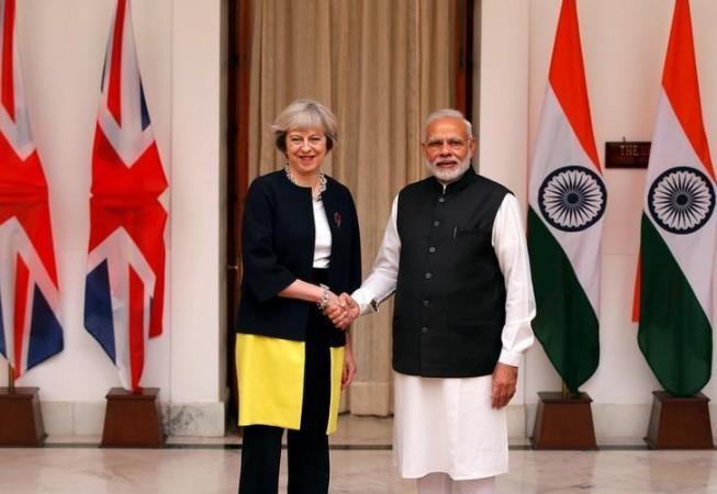 UK - India trade -- PM Narendra Modi and Theresa May