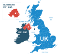 Nothern Ireland, Republic of Ireland and the UK