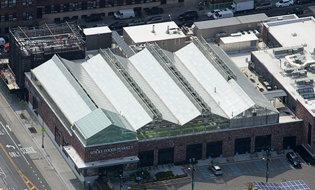 Organic Foods / Rooftop Farming: Gotham Greens in Gowanus, New York.