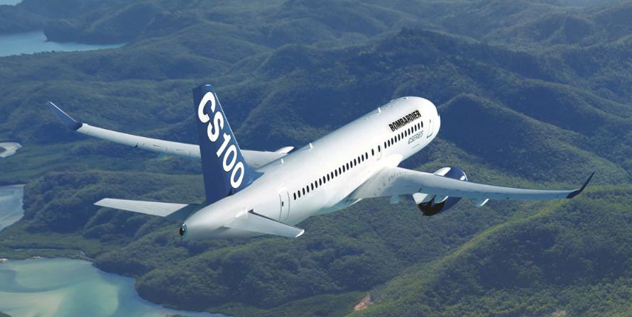Bombardier C100 passenger aircraft