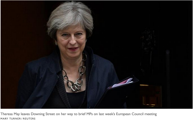 UK Prime Minister Theresa May. Image courtesy of Reuters