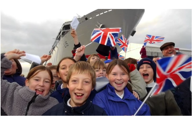 UK Royal Navy ship HMS Albion was launched by Princess Anne on March 9, 2001