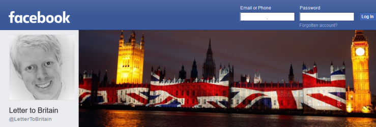 Letter to Britain Facebook page