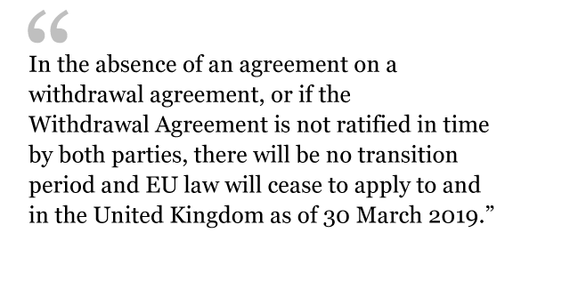Draft Withdrawal Agreement was created to prevent a Hard Brexit