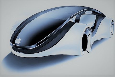 apple icar concept car in london, uk