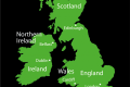 UK, Northern Ireland, Republic of Ireland, Brexit, map