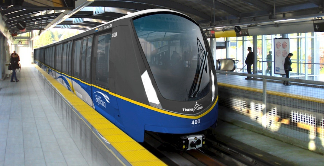 Bombardier Mark III ALRT light rail cars in Vancouver, Canada