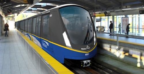 Bombardier Mark III ALRT light rail cars in Vancouver, Canada