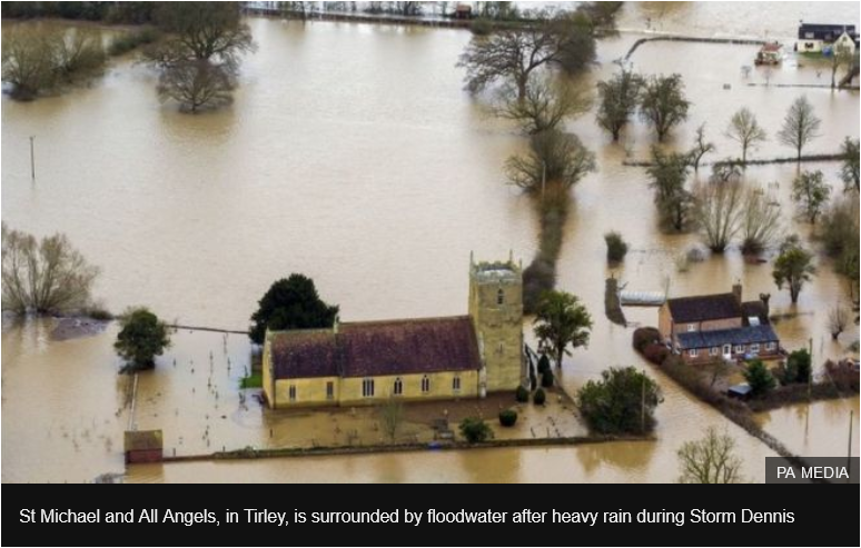 UK Storm Dennis flooding 2020